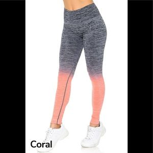 Coral Ombre Fusion Workout Legging